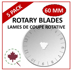 60mm Rotary Blade - 5 PACK