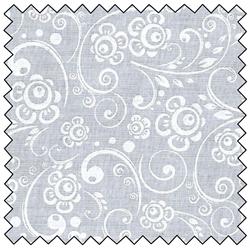 "Scrolls by Santee 108"" wide back - white on white ST48496-ww"