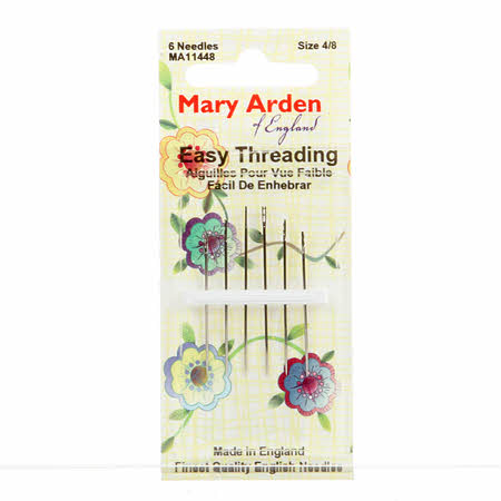 Mary Arden Self / Easy Threading Needles Assorted Sizes 4/8 6ct # MA114-48
