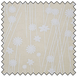 Standing Floral - Tone on Tone - White on Natural - 108 ST48498-WT