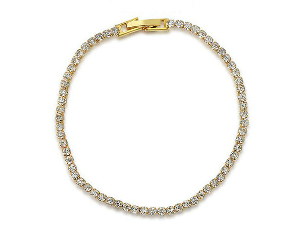 18K Gold Plated Abigail Bracelet with Simulated Diamond