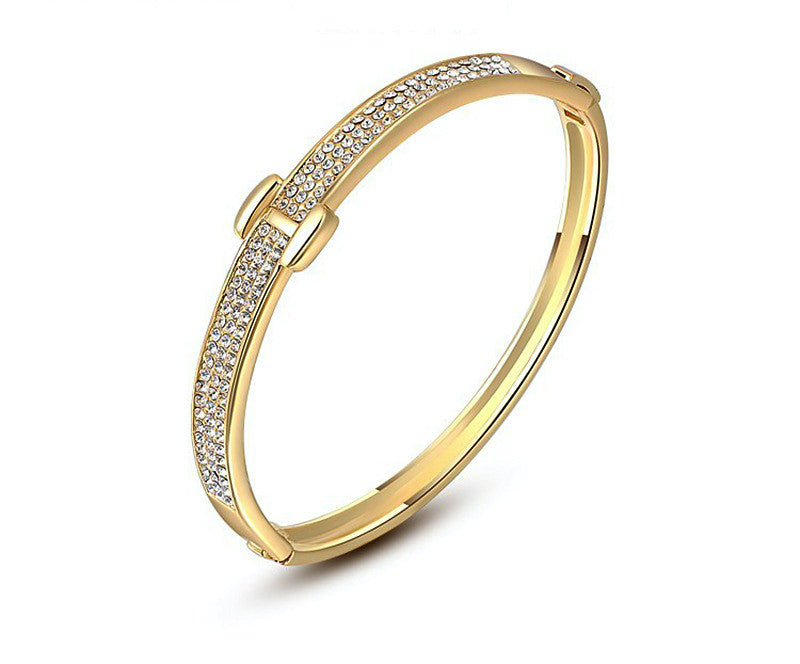 18K Gold Plated Alexa Bracelet with Simulated Diamond