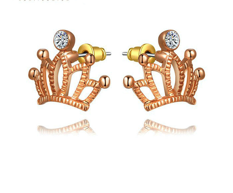 18K Gold Plated Angela Earrings with Simulated Diamond