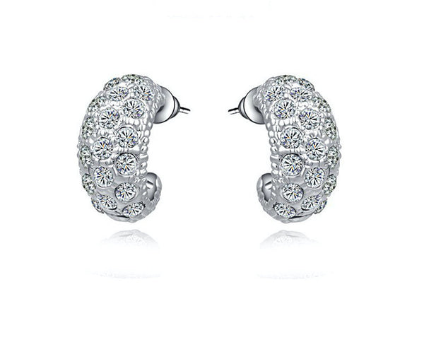 18K Gold Plated Delaney Earrings with Simulated Diamond