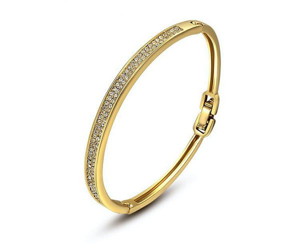 18K Gold Plated Ella Bracelet with Simulated Diamond