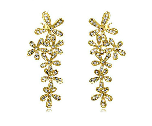 18K Gold Plated Emmalyn Earrings with Simulated Diamond