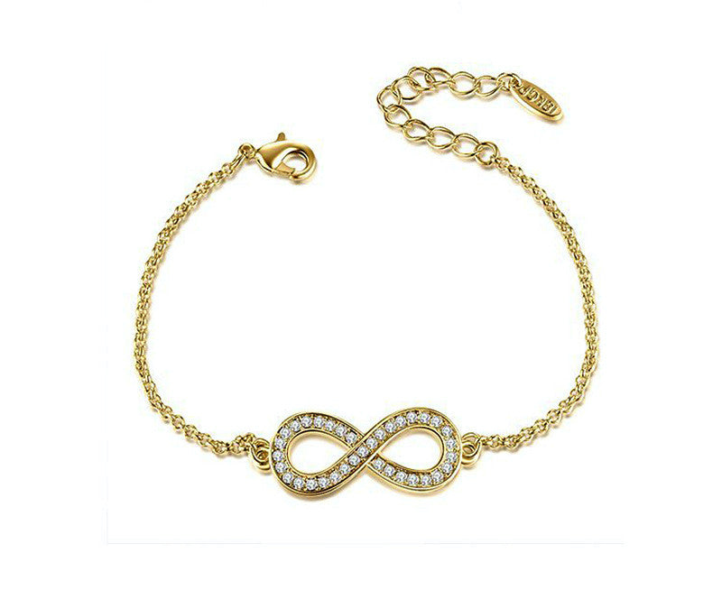 18K Gold Plated Isla Bracelet with Simulated Diamond