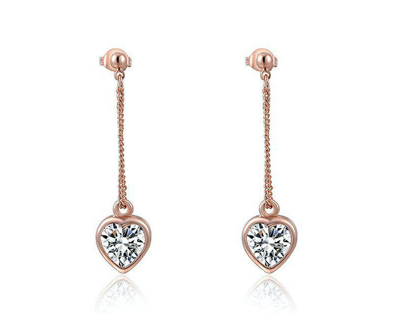 18K Rose Gold Plated Adalynn Earrings with Simulated Diamond