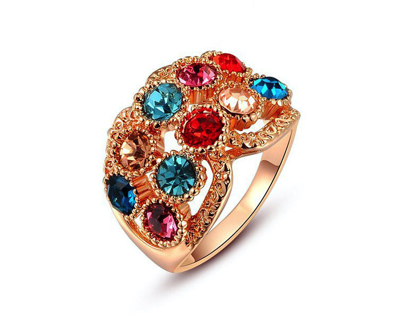 18K Rose Gold Plated Addilyn Ring with Simulated Diamond