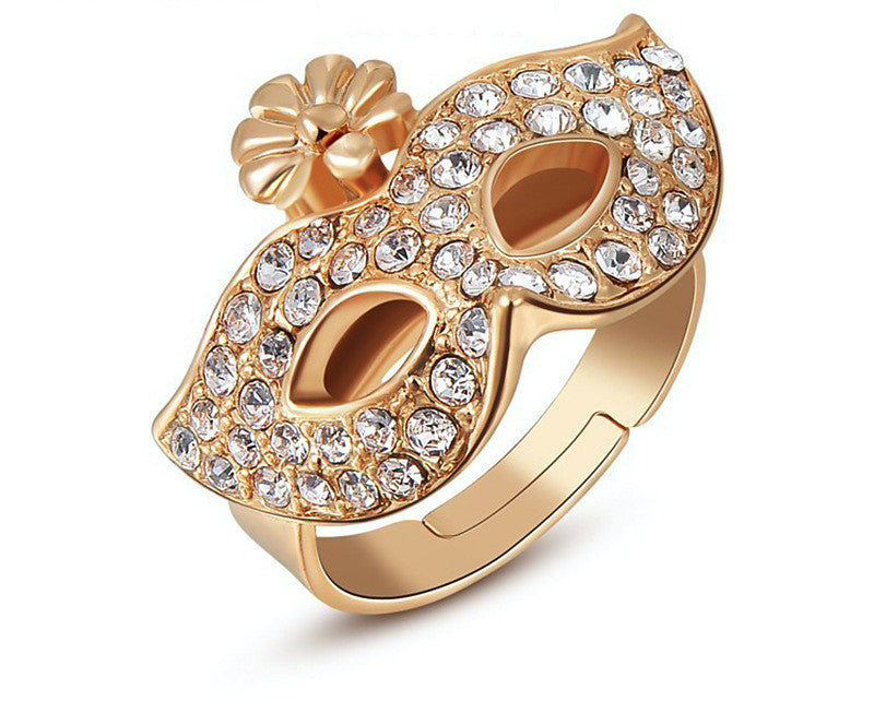18K Rose Gold Plated Adelynn Ring with Simulated Diamond