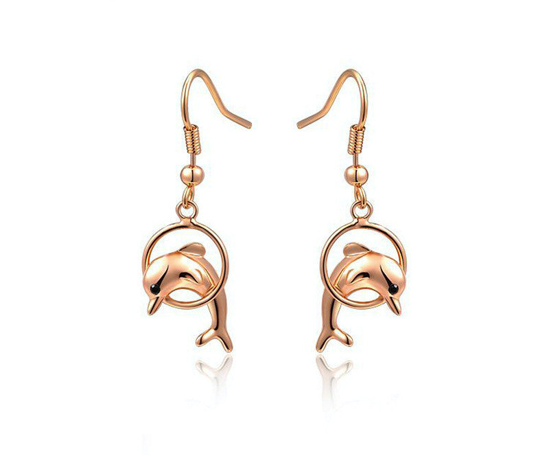 18K Rose Gold Plated Alice Earrings with Simulated Diamond