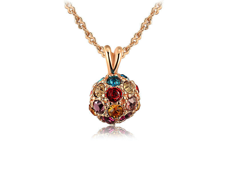 18K Rose Gold Plated Alison Necklace with Simulated Diamond