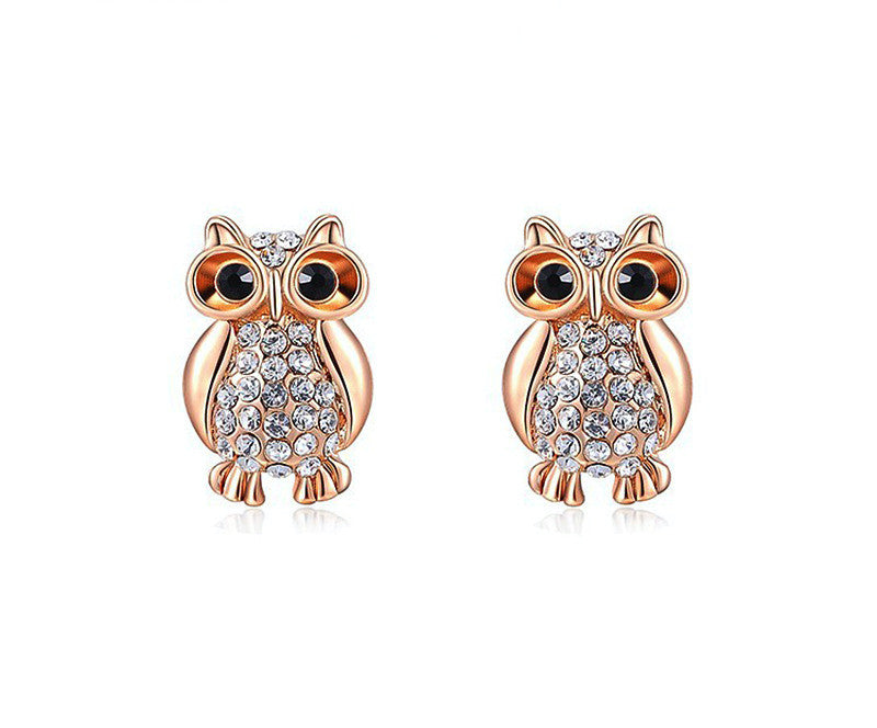 18K Rose Gold Plated Allison Earrings with Simulated Diamond