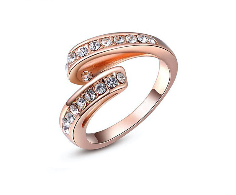 18K Rose Gold Plated Allison Ring with Simulated Diamond