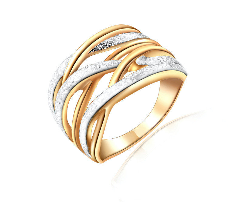 18K Rose Gold Plated Amaya Ring with Simulated Diamond