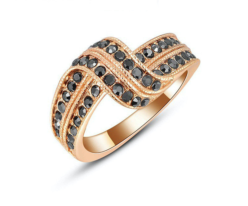 18K Rose Gold Plated Amy Ring with Simulated Diamond