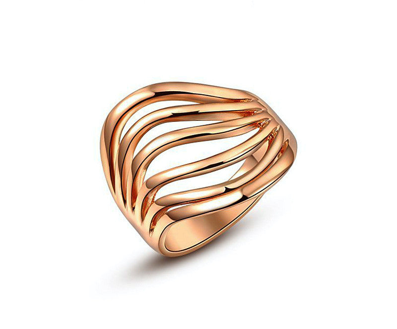 18K Rose Gold Plated Anastasia Ring