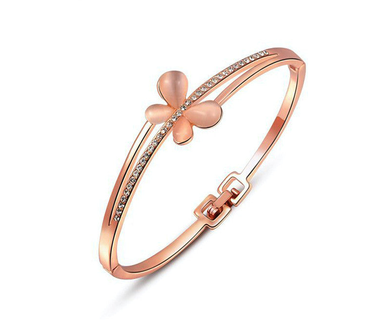 18K Rose Gold Plated Arianna Bracelet with Simulated Diamond