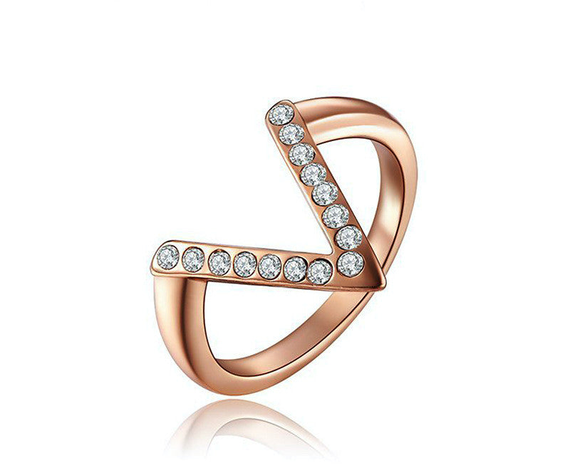 18K Rose Gold Plated Ashlynn Ring with Simulated Diamond
