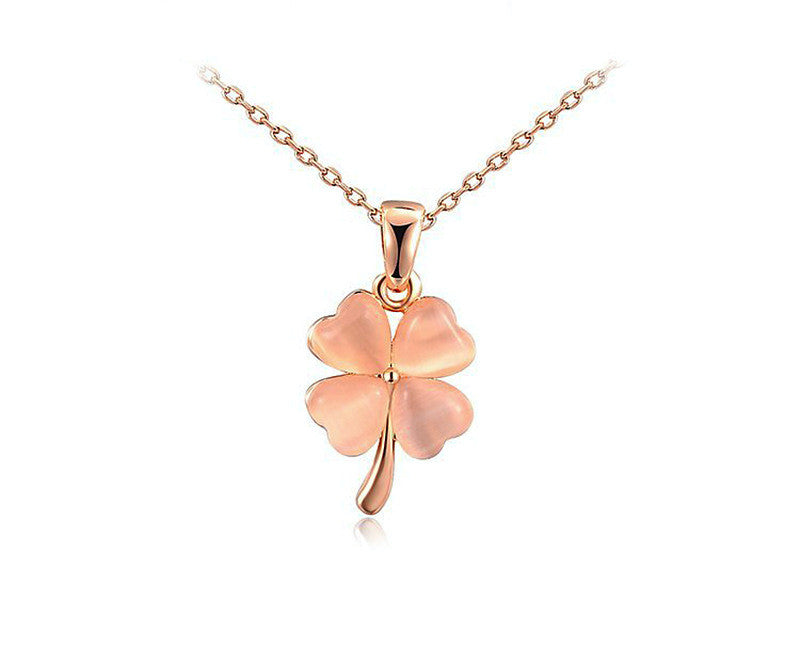 18K Rose Gold Plated Aurora Necklace with Simulated Diamond