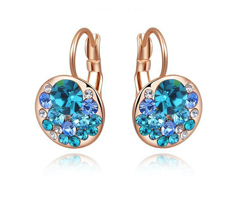 18K Rose Gold Plated Ava Earrings with Simulated Diamond