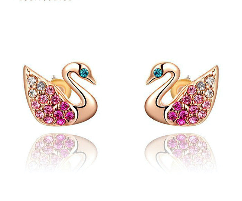 18K Rose Gold Plated Avery Earrings with Simulated Diamond