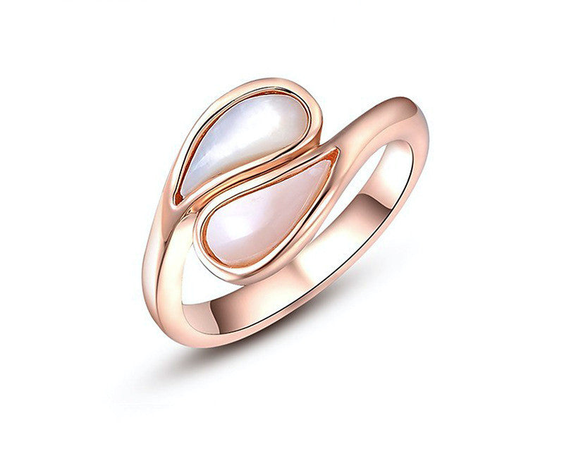 18K Rose Gold Plated Bailey Ring with Simulated Diamond