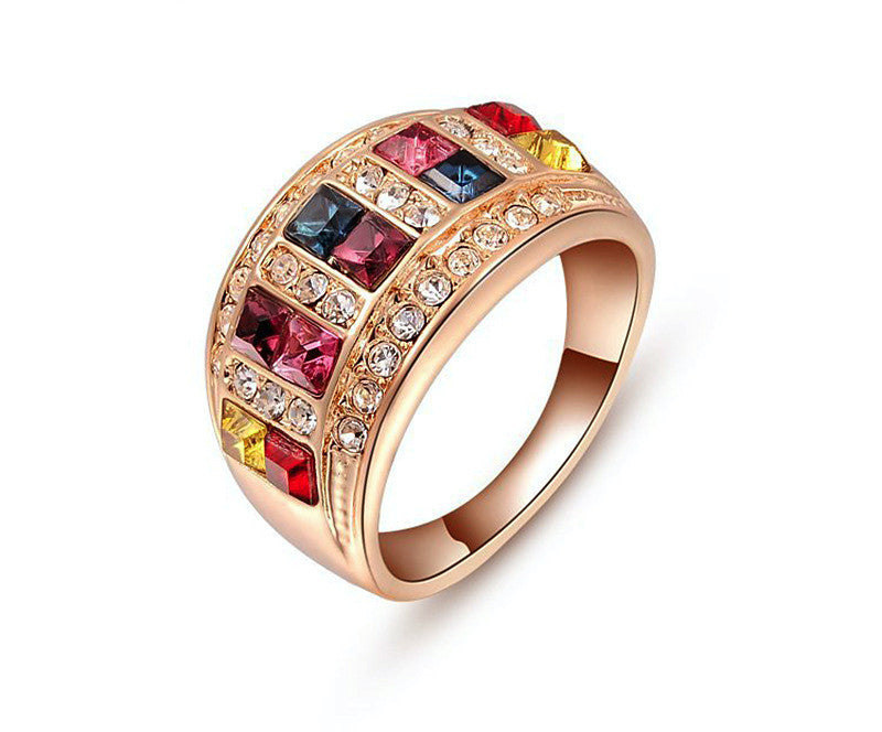 18K Rose Gold Plated Braelyn Ring with Simulated Diamond