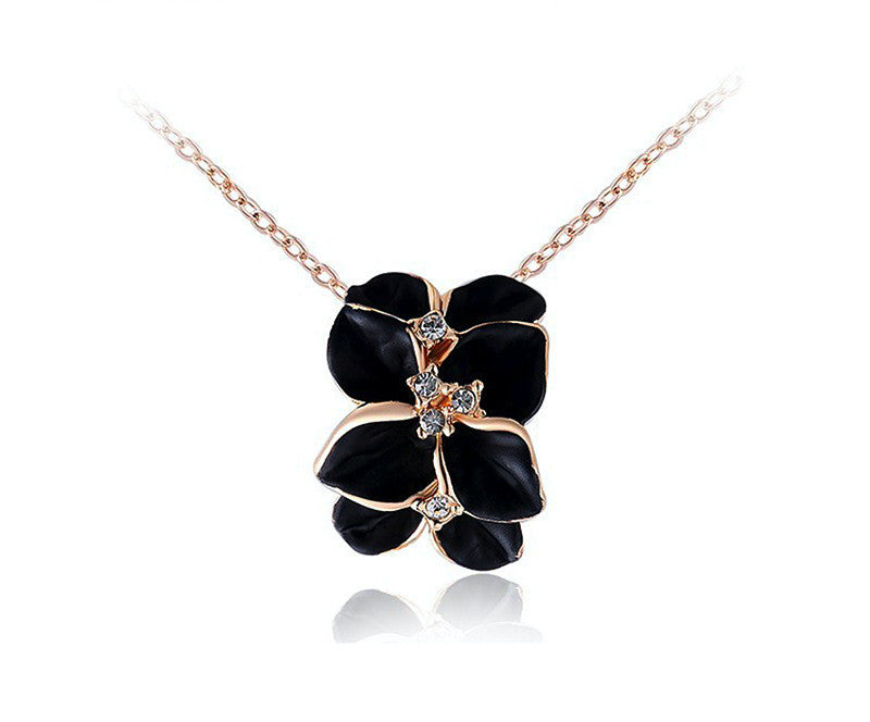 18K Rose Gold Plated Brianna Necklace with Simulated Diamond