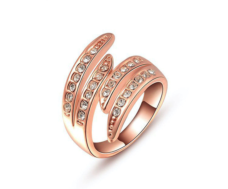 18K Rose Gold Plated Brianna Ring with Simulated Diamond