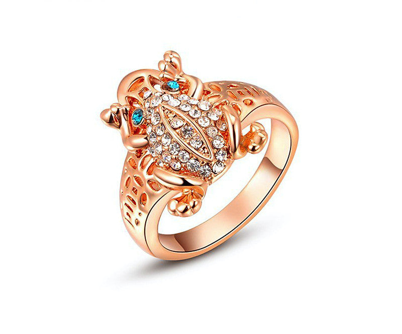 18K Rose Gold Plated Brinley Ring with Simulated Diamond