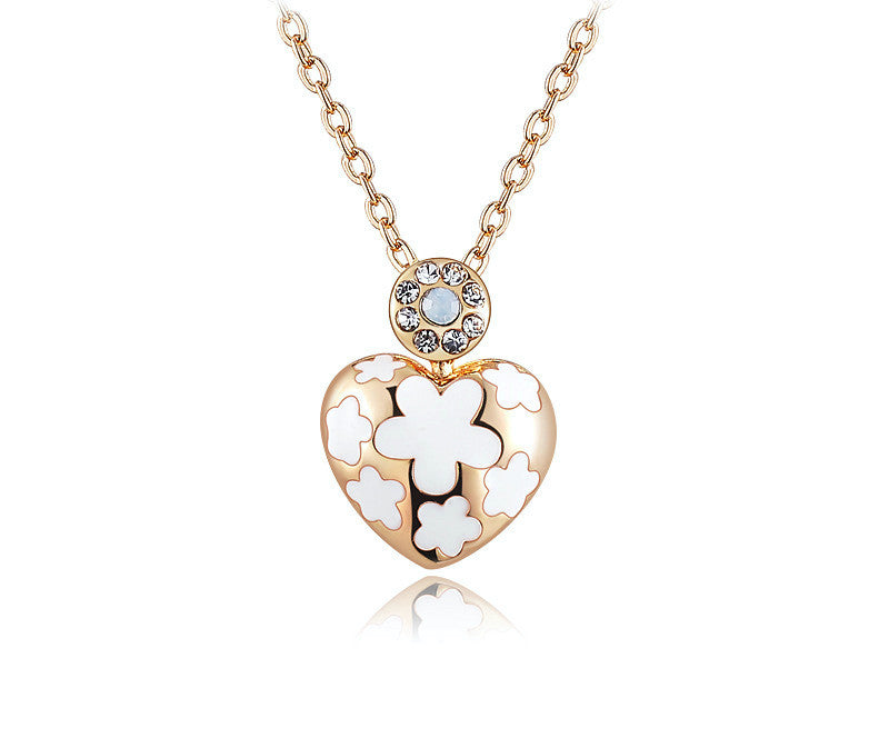 18K Rose Gold Plated Camilla Necklace with Simulated Diamond