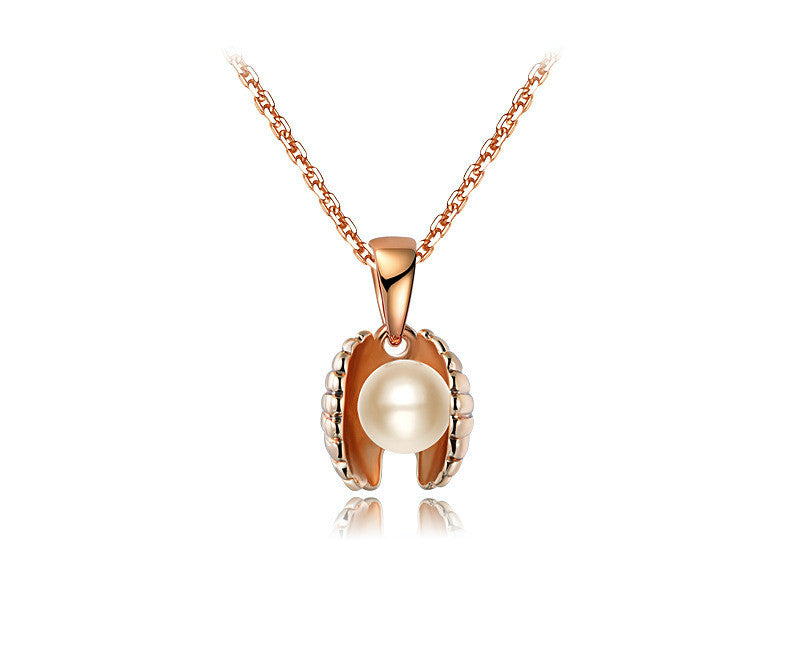 18K Rose Gold Plated Cassidy Necklace with Simulated Diamond