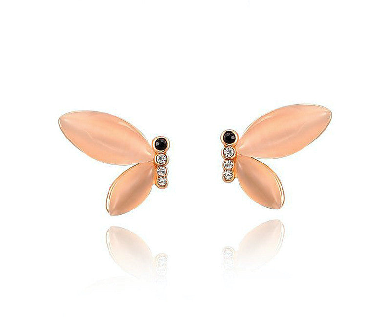 18K Rose Gold Plated Charley Earrings with Simulated Diamond
