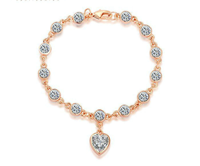 18K Rose Gold Plated Chloe Bracelet with Simulated Diamond