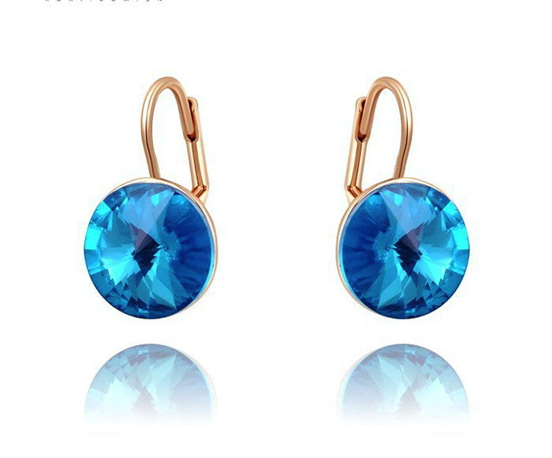 18K Rose Gold Plated Chloe Earrings with Simulated Diamond