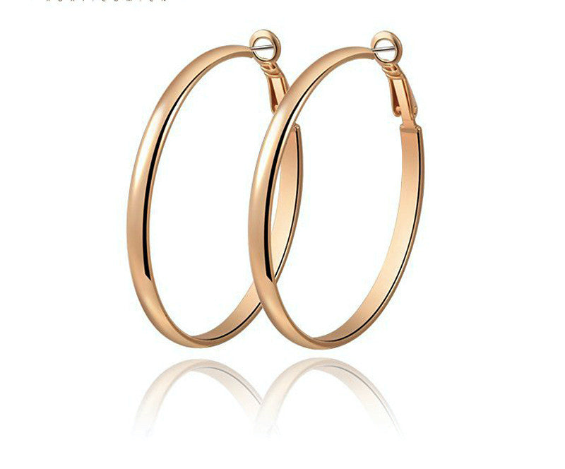 18K Rose Gold Plated Cora Earrings with Simulated Diamond