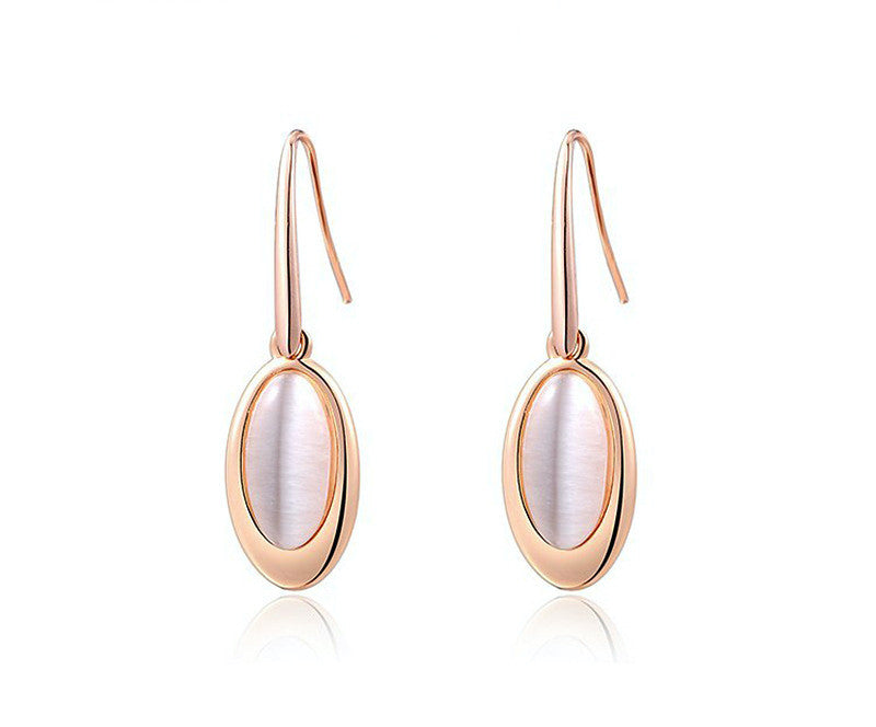 18K Rose Gold Plated Eliana Earrings with Simulated Diamond