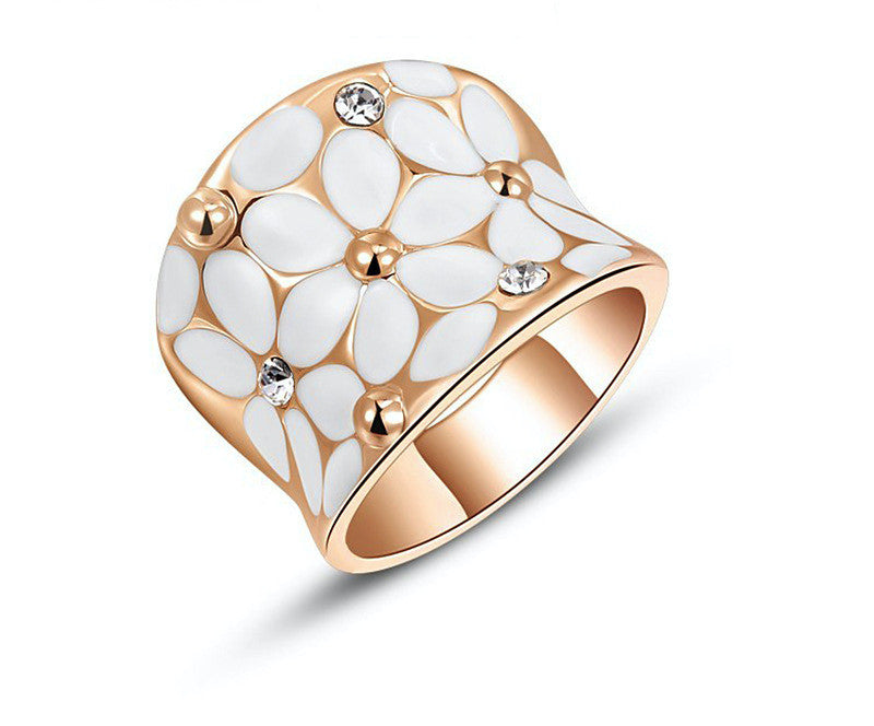 18K Rose Gold Plated Ella Ring with Simulated Diamond