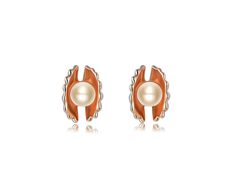 18K Rose Gold Plated Elsa Earrings with Simulated Diamond