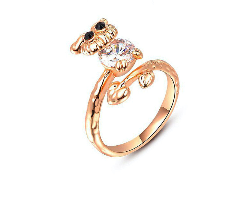 18K Rose Gold Plated Emersyn Ring with Simulated Diamond