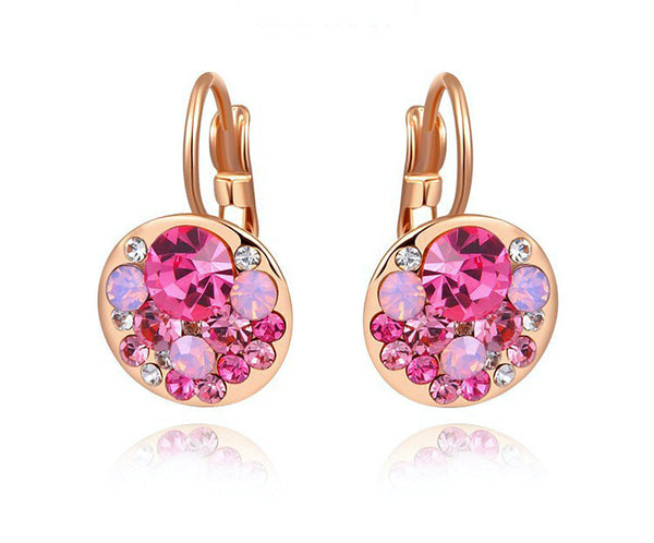 18K Rose Gold Plated Emily Earrings with Simulated Diamond