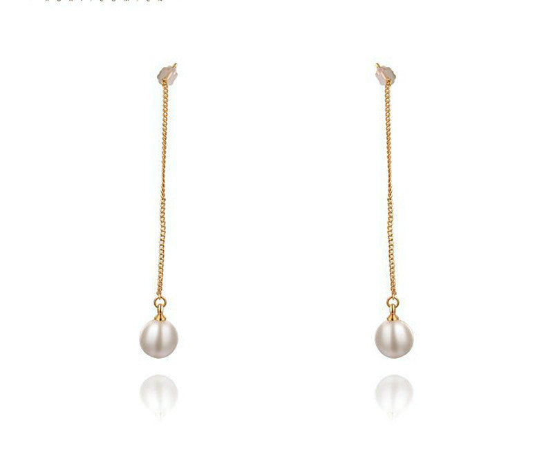 18K Rose Gold Plated Emma Earrings with Simulated Diamond