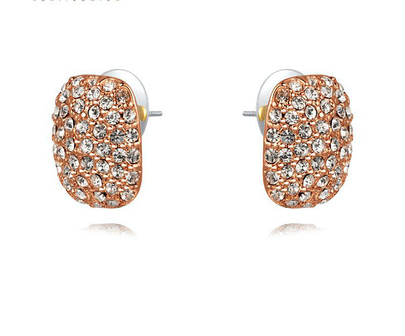 18K Rose Gold Plated Evie Earrings with Simulated Diamond