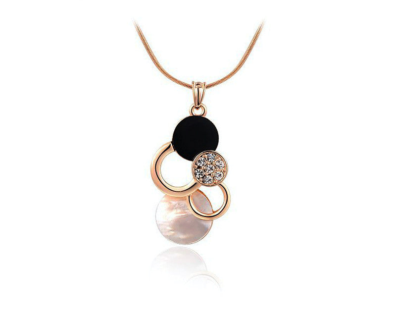 18K Rose Gold Plated Genevieve Necklace with Simulated Diamond