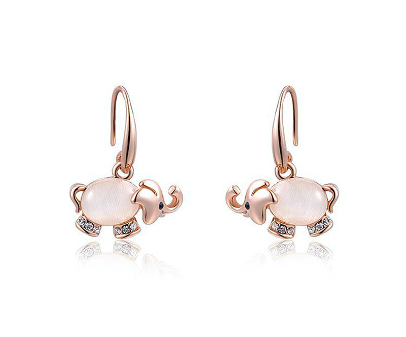 18K Rose Gold Plated Gianna Earrings with Simulated Diamond