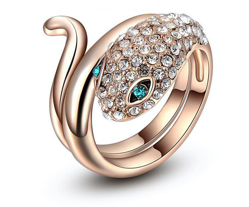 18K Rose Gold Plated Grace Ring with Simulated Diamond