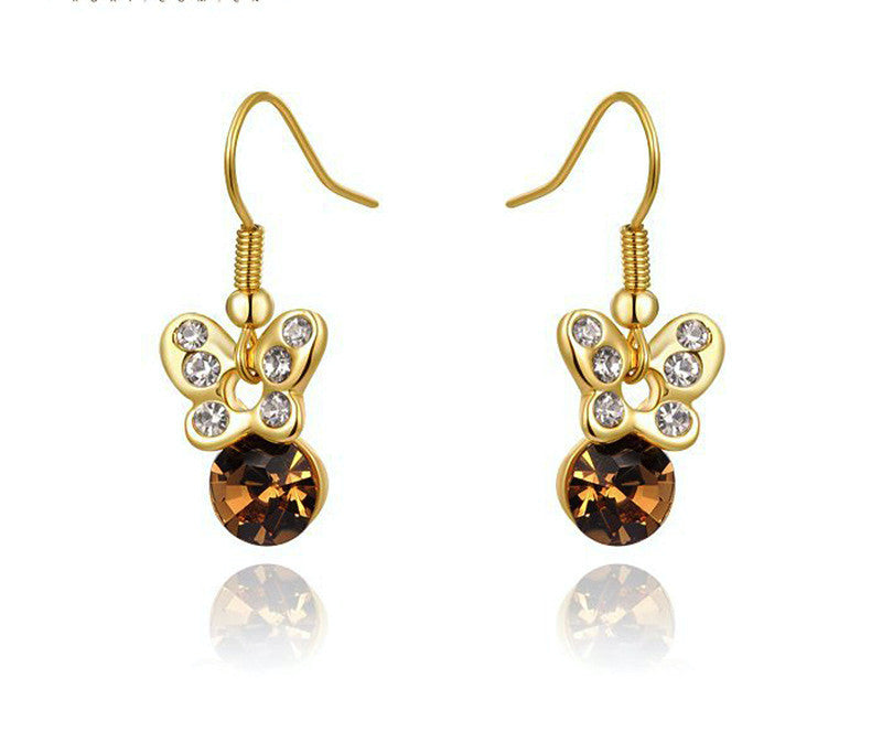 18K Rose Gold Plated Gracelynn Earrings with Simulated Diamond