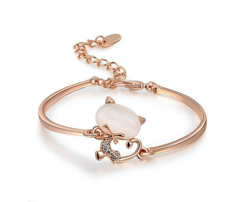18K Rose Gold Plated Hannah Bracelet with Simulated Diamond