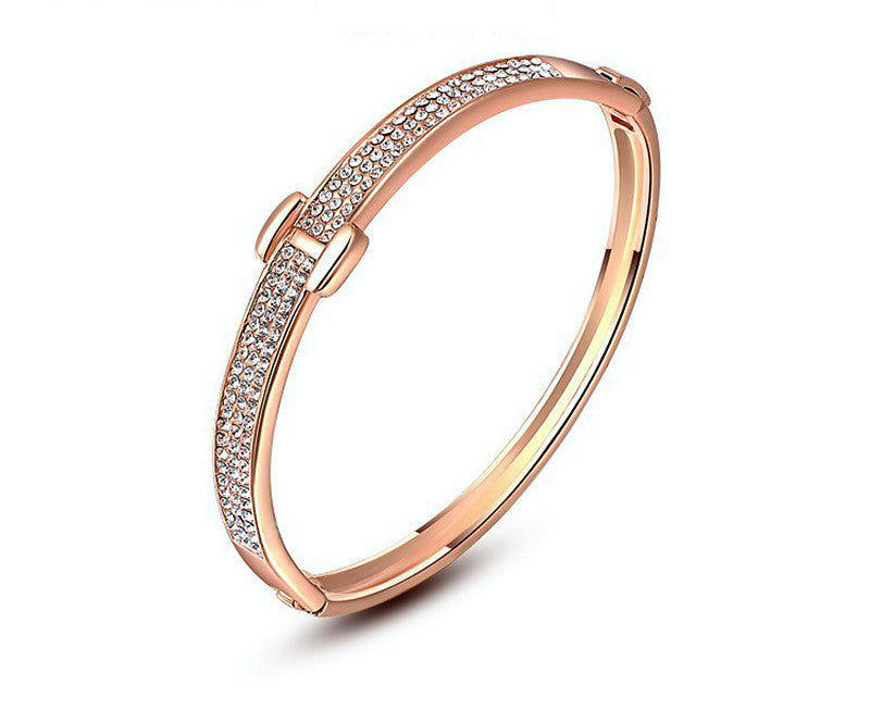 18K Rose Gold Plated Harper Bracelet with Simulated Diamond